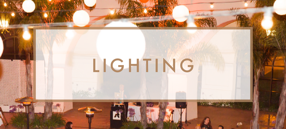 Santa Barbara Wedding DJs: Wedding and Event Lighting