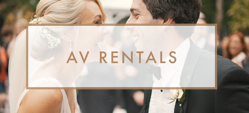Santa Barbara Wedding DJs: AV Rental Services