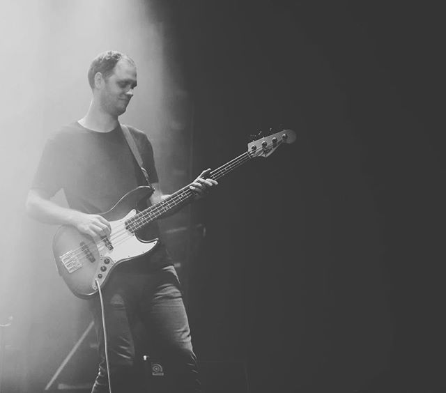 This is @krisschonewill and he is one of the most creative bass players we know. Listen to the bass lines in our music. They are crazy. Also, he is slow to anger and caring. Also, he loves animals.