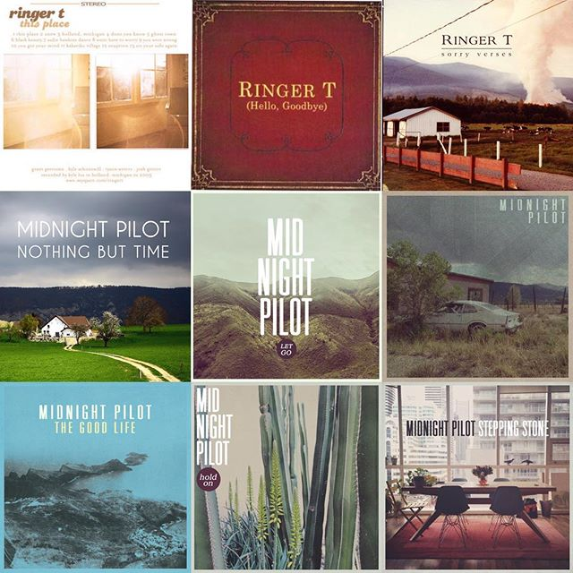 It's actually been over 13 years since we started releasing music together. Which one was your favorite?  This Place (2005) All Too Well (2007) No Photo Around The Bend (2007) No Photo Hello Goodbye (2009) Sorry Verses (2011) Nothing But Time (2013) Let Go (2014) Midnight Pilot (2015) The Good Life (2016) Hold On (2017) Stepping Stone (2017)