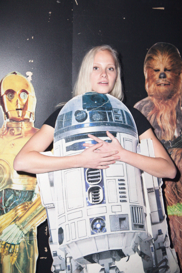 Radha with R2-D2 and friends