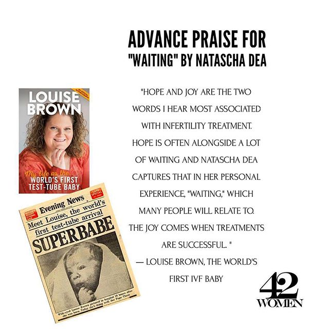 Advance Praise for @nataschadea's monograph Waiting (@waitingbook) a collection of photographs she made during two rounds of IVF. Coming soon to bookstores & published by our own FortyTwo Women Press. . . #Repost @waitingbook ・・・ I woke up this morning after several big-family days to this beautiful quote from Louise Brown about my book, Waiting. ❤️ If you haven't read her book, I highly recommend reading it... There is so much that went into getting us (the world/science/families/possibility/hope) to the place where infertility treatments could help build families. Louise's history is in many ways, ours. And I am so very grateful to her for her kind words. #infertility #waitingbook #fertilitytreatment #IVF #herstory #womensstories #supportwomen #womensupportingwomen #artistslife #LouiseBrown #worldsfirstIVFbaby #fortytwowomenpress