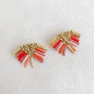 1fe95b956 Fringe Stud Earrings in Tangerine