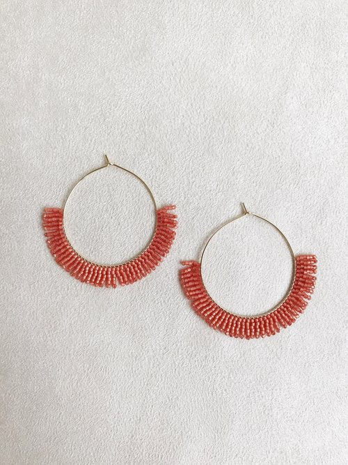 41bbebf9e Hoop Earrings in Papaya — BETTY ALIDA