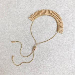 f081afea9 Adjustable Fringe Bracelet in Matte Ecru