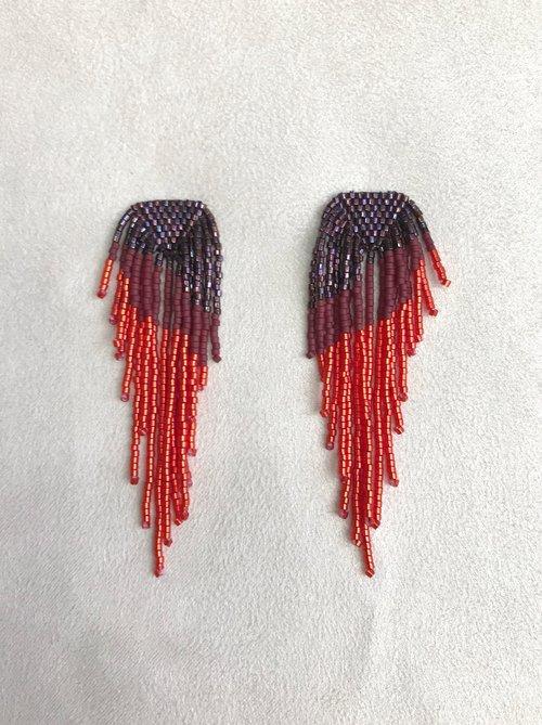ceb7e1f9e Long Fringe Earrings in Red. Photo Nov 16, 4 37 29 PM.jpg