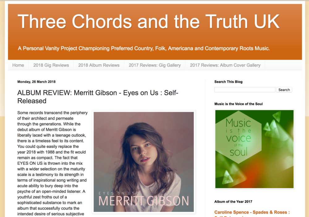 Album Review Three Chords And The Truth Merritt Gibson