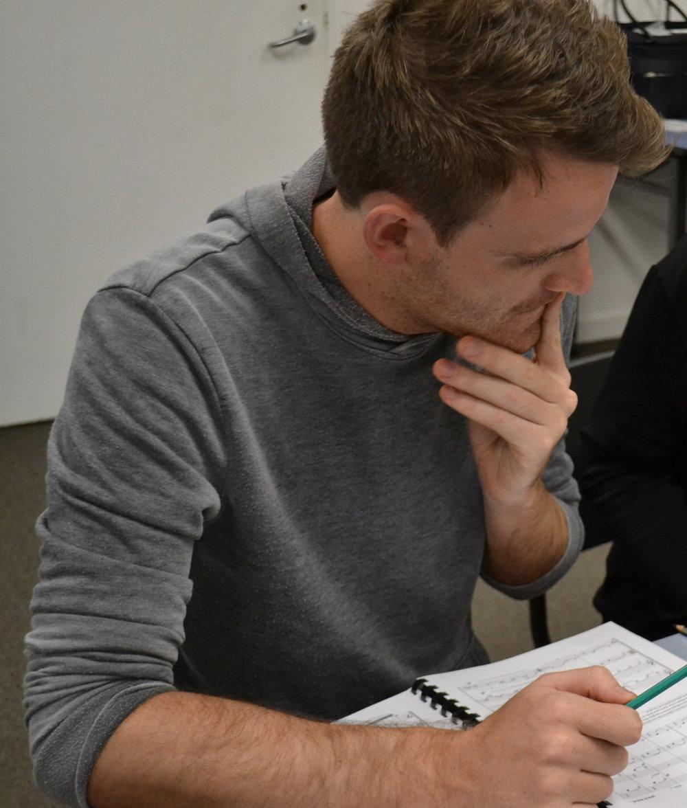 Matt Laing in workshop at the 2017 Composer Development Program