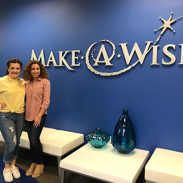 This week we had the opportunity to volunteer hands on with our local Make a Wish chapter.  For this #songfestsunday we wanted to showcase some of our awesome volunteers @llaurenknight and @kristenleighpowell . Thanks for all your help guys! #ucigreeksongfest