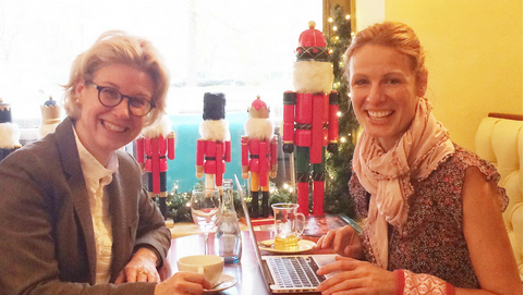 Was erwartet Neuankömmlinge in Stuttgart? Veerle Ullrick im Gespräch mitBloggerin Emma von Bergenspitz vom   Stuttgart Diary  .