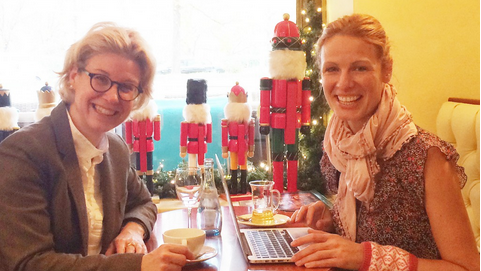Emma von Bergenspitz blogging on   Stuttgart Diary   about meeting Veerle Ullrick.