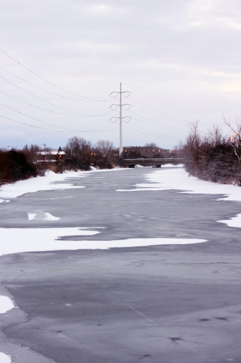 Frozen Montreal river