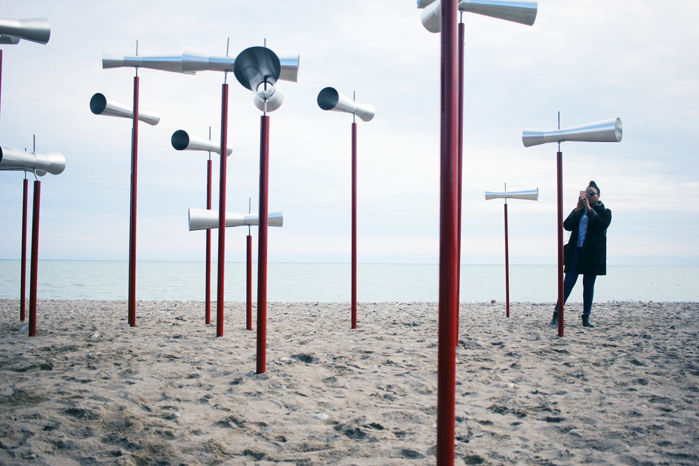 Shouting to the sea (okay, lake) at WinterStations