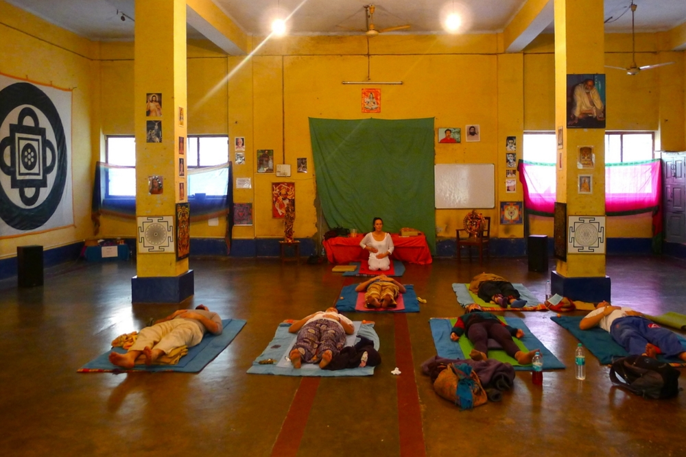 Teaching at Agama Yoga in Rishikesh, India