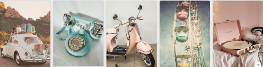 Pinterest search for 'vintage'
