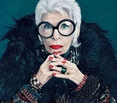 This is not Beryl. It's Iris Apfel, who is definitely a lovable weirdo.