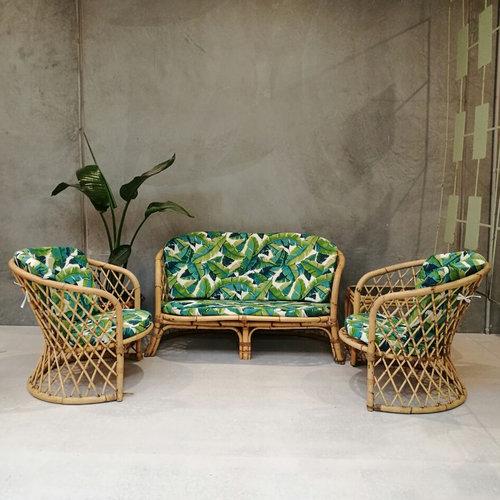 Perky Nana vintage cane lounge suite