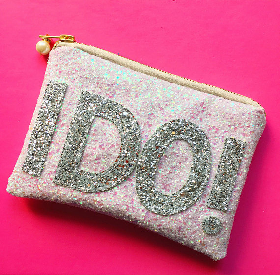 I DO not give you permission to say 'MY SPECIAL DAY'. It's banned for all eternity. Rad glitter clutches by  Threaded by Pooja via Etsy