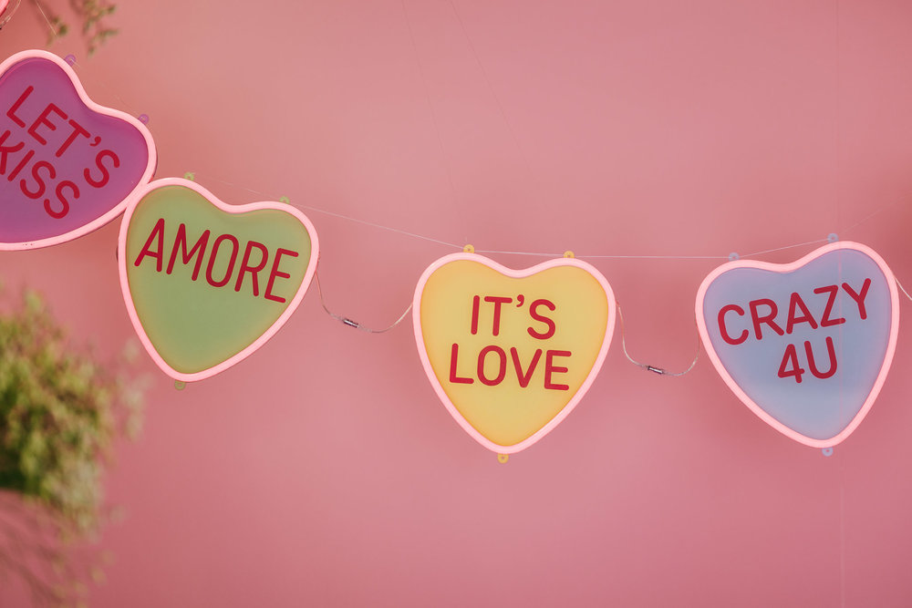 CANDY HEARTS NEON SIGN