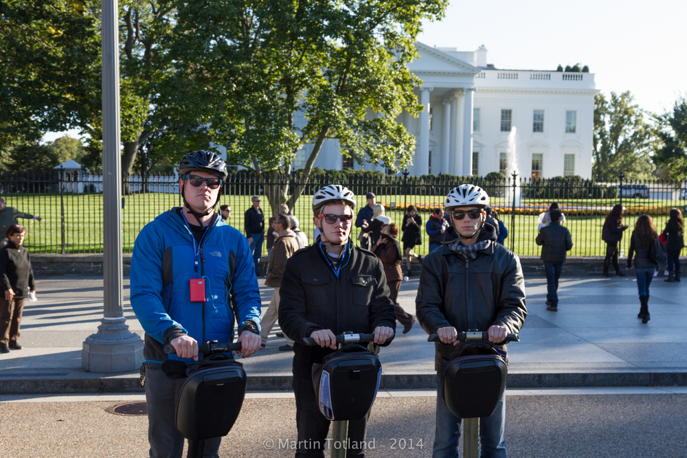 Three D-Bags on Segways