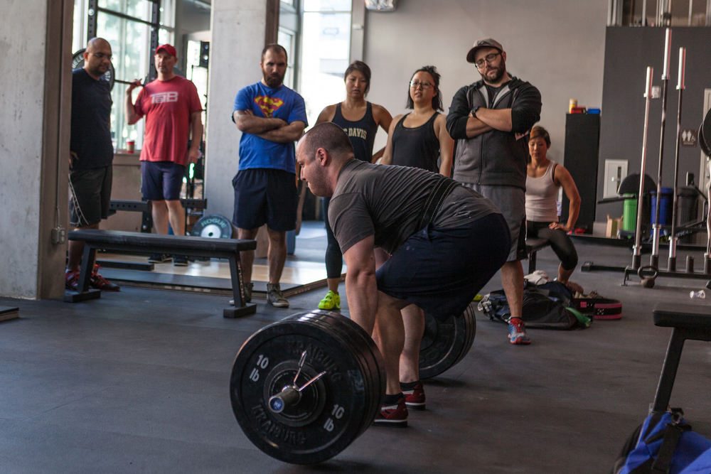Deadlifts at SF Iron 1