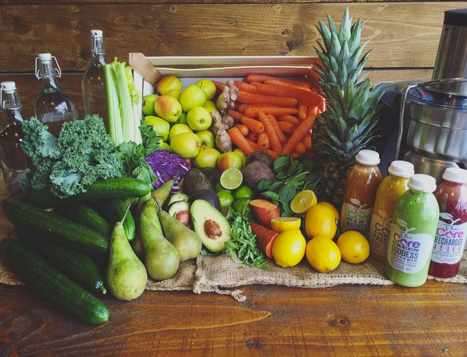 The produce you consume in 7 days on The Core Juice Programme