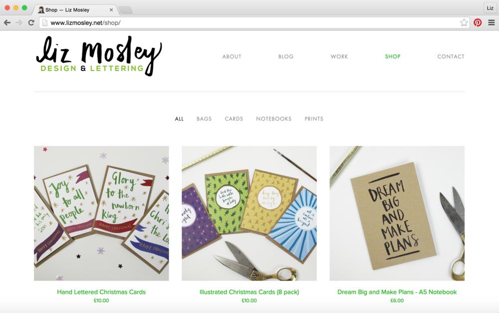 Liz Mosley - New Shop