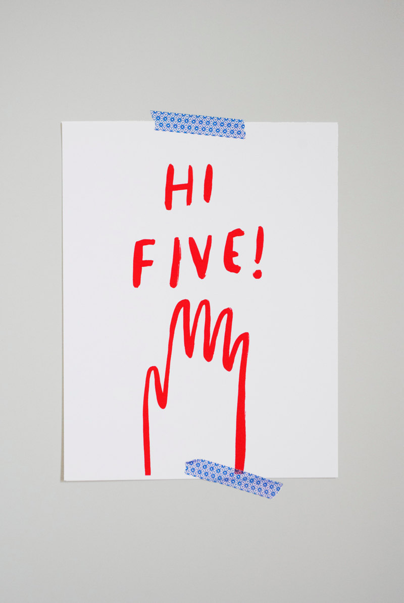 Hi Five Print - Tuesday Mourning