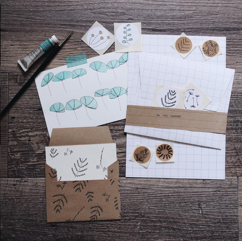 @unpeusauvage - Delicate envelopes, stickers and notebooks and frankly life looks beautiful in the instagram feed of this italian knitter and stationery maker.