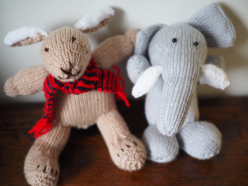 These two little guys were knitted by my mother-in-law and i LOVE them. She has serious knitting skills so I am pretty sure this little guy will never be short of knitted toys or clothes.