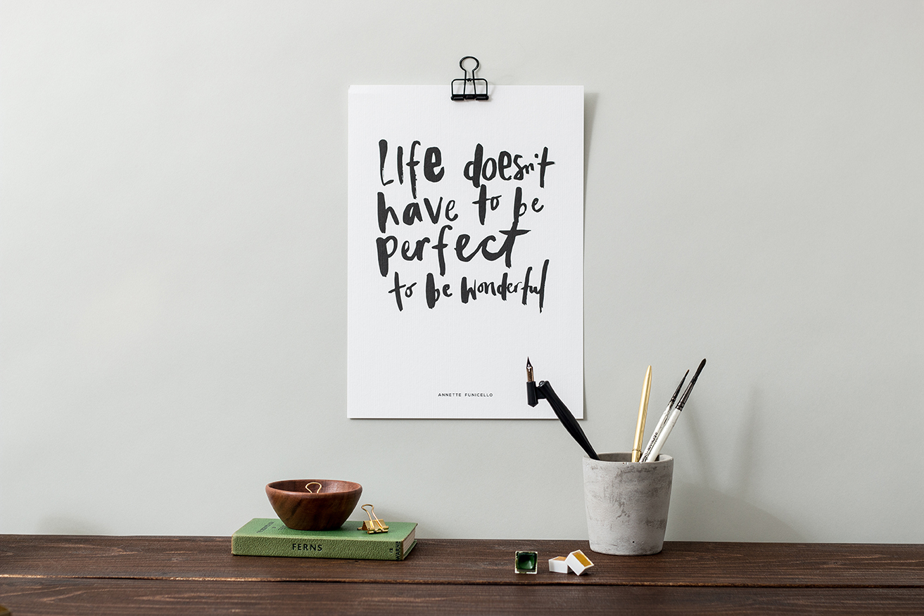 Life Doesnt Have To Be Perfect A4 Print Liz Mosley