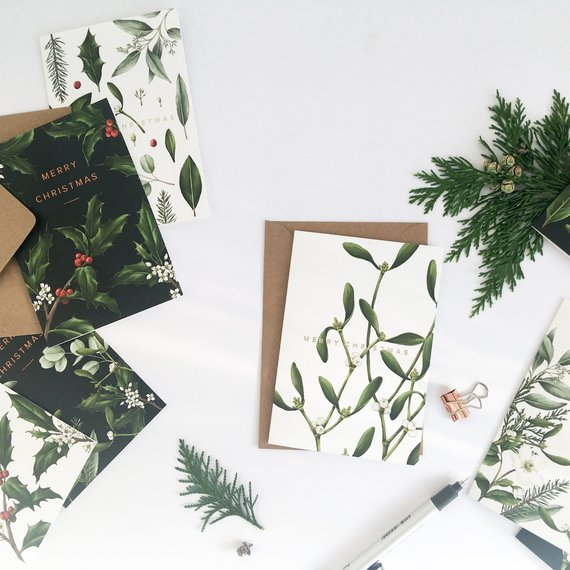 Catherine Lewis - Luxury Botanical 'Greenery' Christmas Cards