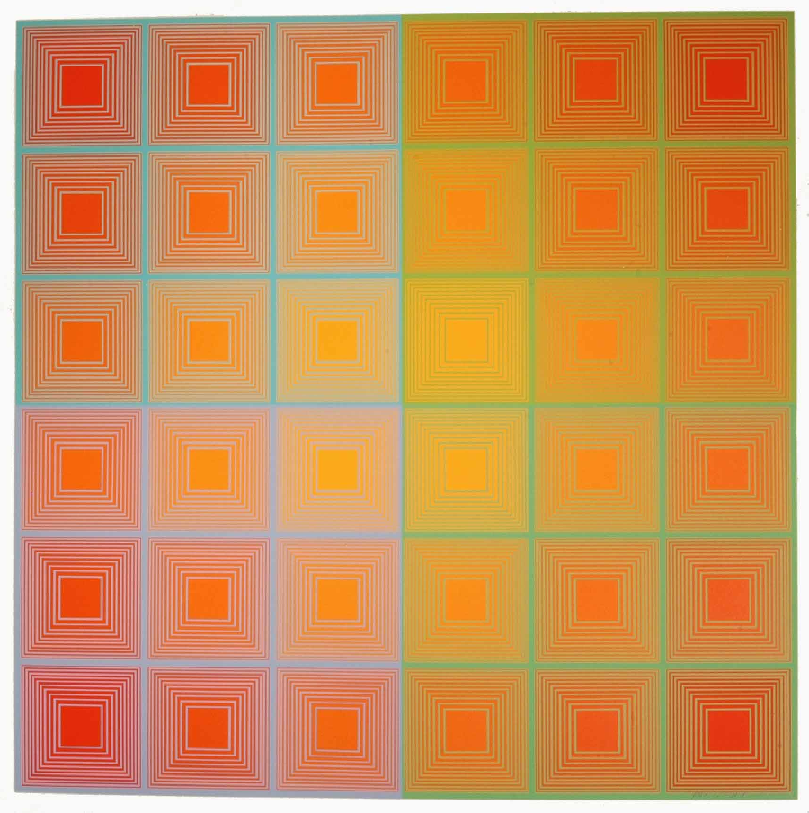 Richard Anuszkiewicz, Spectral Squares, 1966, Screen Print