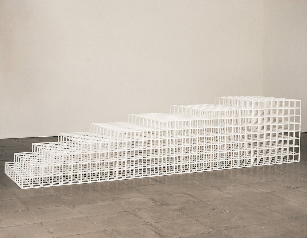 Sol Lewitt, Open Geometric Structure 3, 1990, Painted Wood