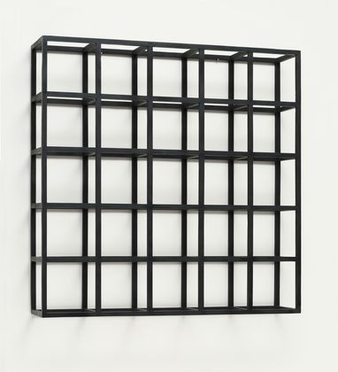 Cubic Modular Wall Structure Block, 1966, Painted Wood.Photo: © 2015 Sol Lewitt/ Artists Rights Society (ARS), New York
