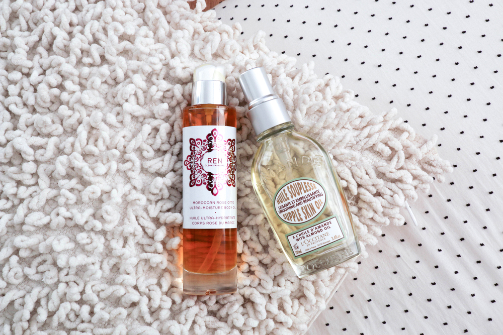 Ren Moroccan Rose Body Oil, L'Occitane Supple Skin Oil