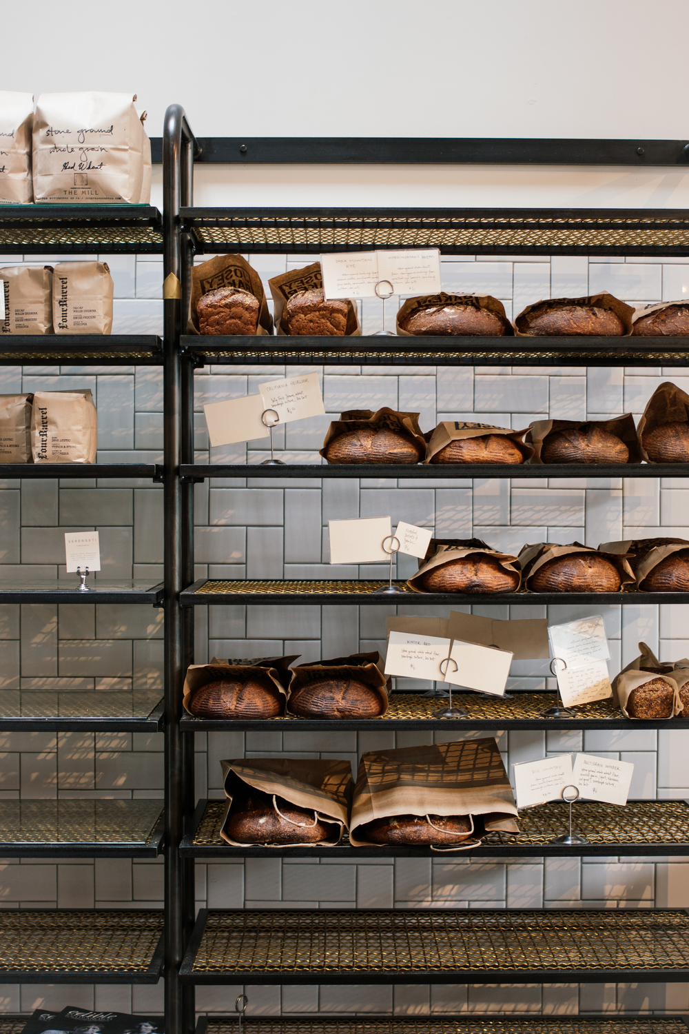 Coffee break with fresh loaves at The Mill SF