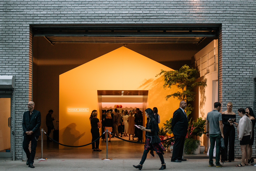 Mansur Gavriel SS16 at The Swiss Institute