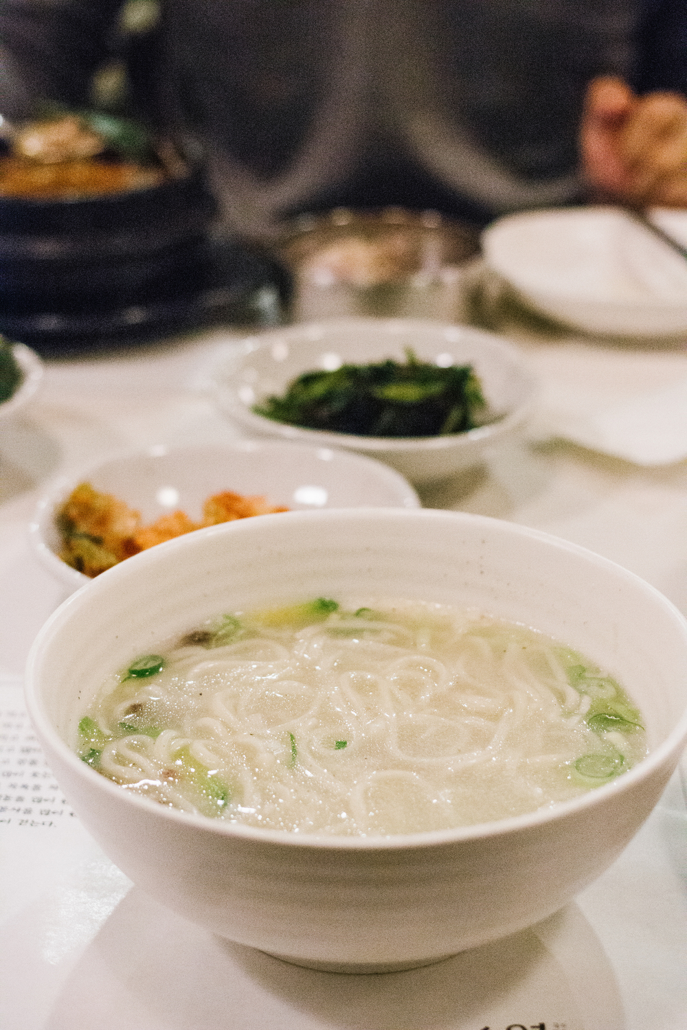 Traditional noodles and dumplings at 안동국시 소람