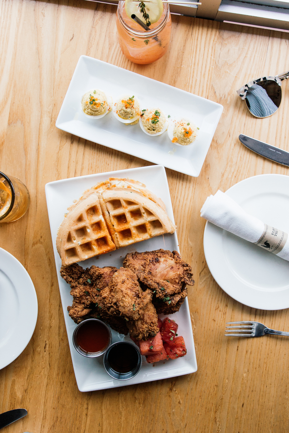 Brunch at  Yardbird Southern Table & Bar  (recommended by  Porter and Sail )