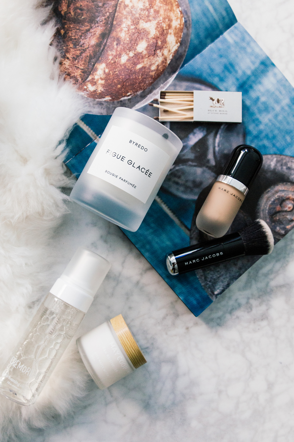 Byredo Candle, Marc Jacobs Foundation and Brush