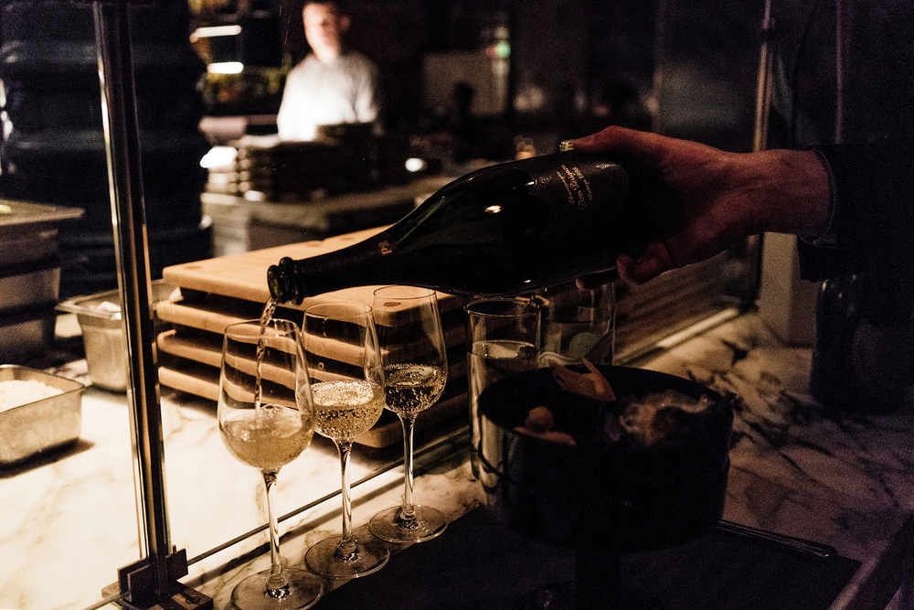 Ferran Adria x Dom Perignon Snacks + Dinner at Chef's Club by Food & Wine