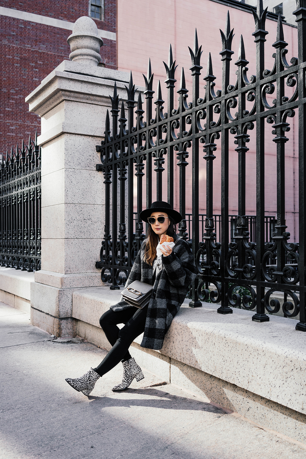 Isabel Marant Coat,  Senso  Boots,  Hermes Bag ,  Janessa Leone  Hat,  Dior Sunglasses