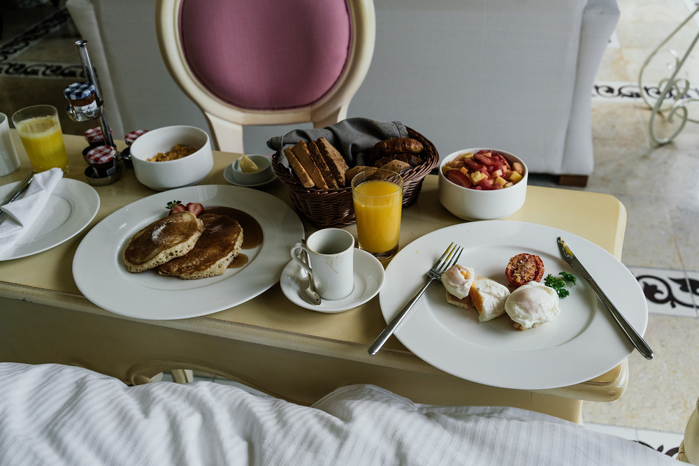 Room service breakfast provided every morning if preferred