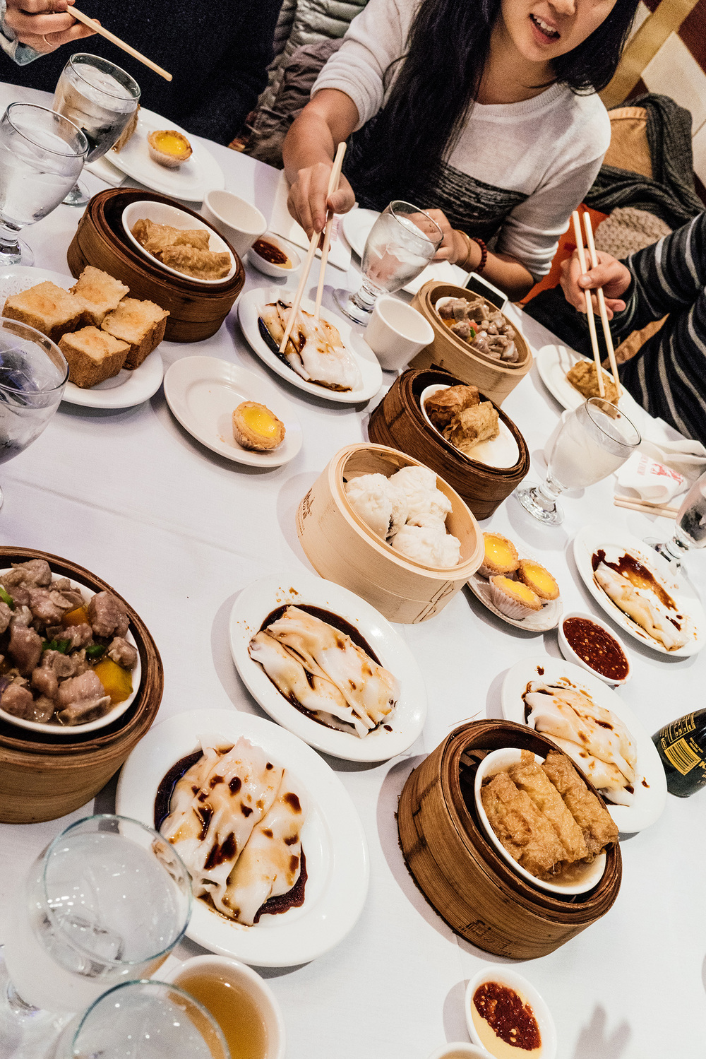 Dimsum at  Golden Unicorn  when  Cynthia  visited from LA