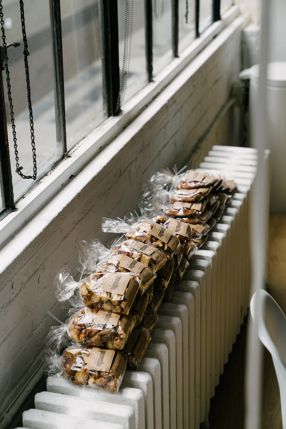 The best favors – pretzel chips and cookies from Sigmund's x Urbanspace Vanderbilt