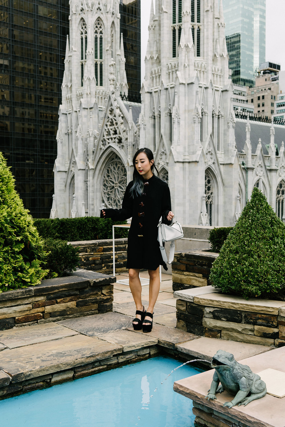 J.W.Anderson Dress, Saint Laurent Sandals, Loewe Bag