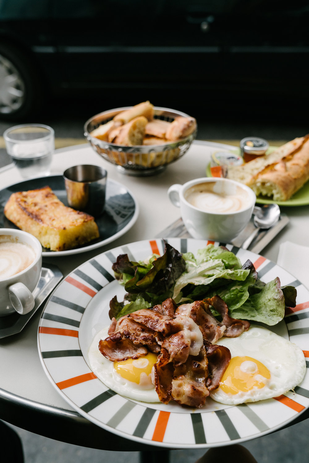 Simple brunches are always the best, at Café de la Poste