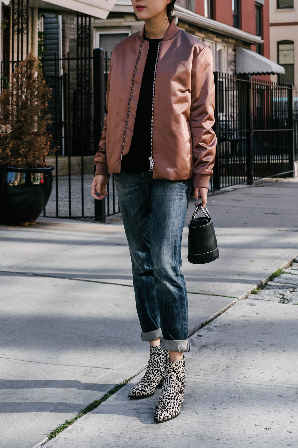 Acne Studios Jacket, R13 Denim, Senso Boots, Simon Miller Bag (bigger size)