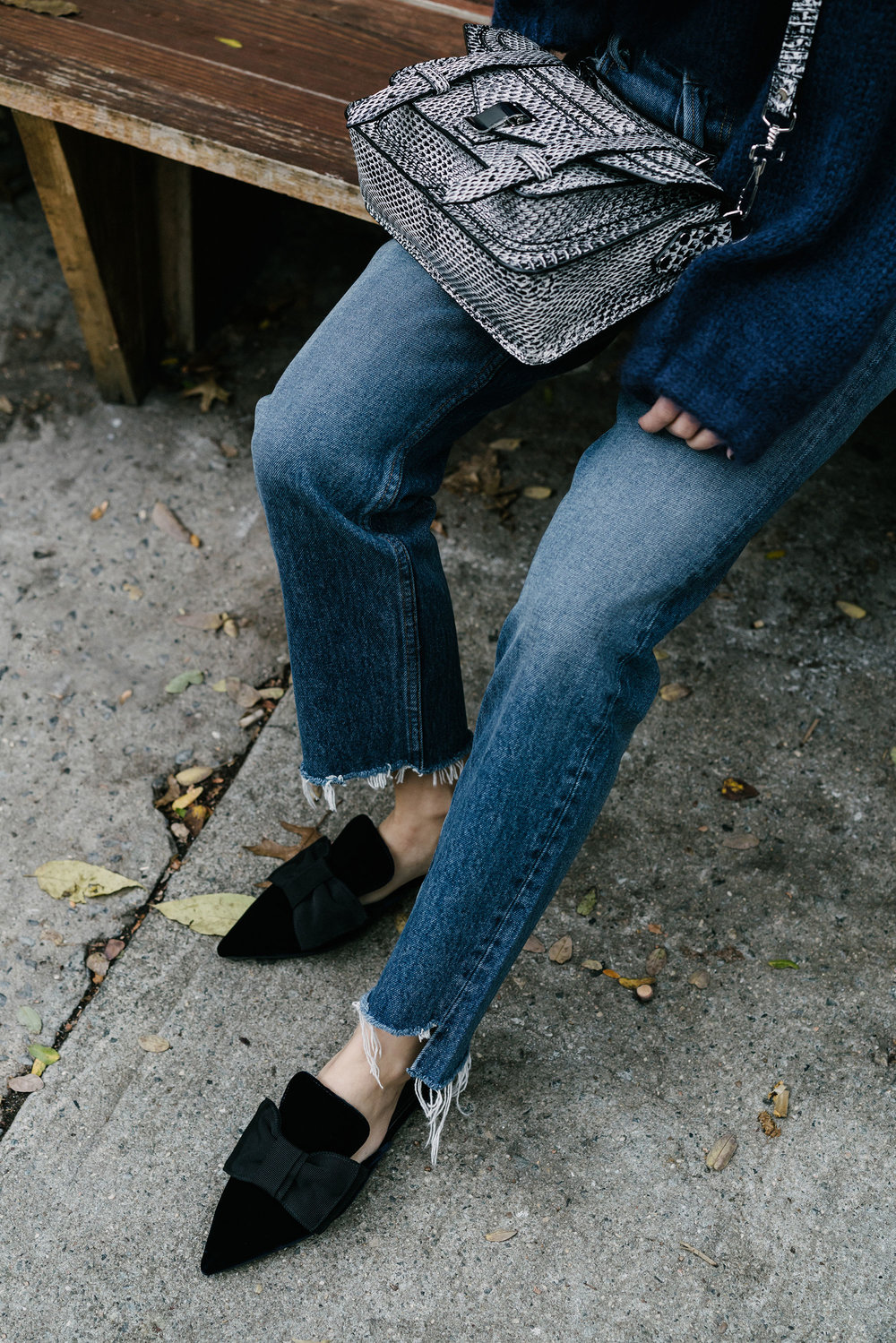 Tabula Rasa  Sweater,  GRLFRND Denim , Prada Shoes,  Proenza Schouler Bag